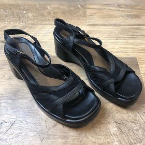 Naot Black Peep Toe Sandal 41/10